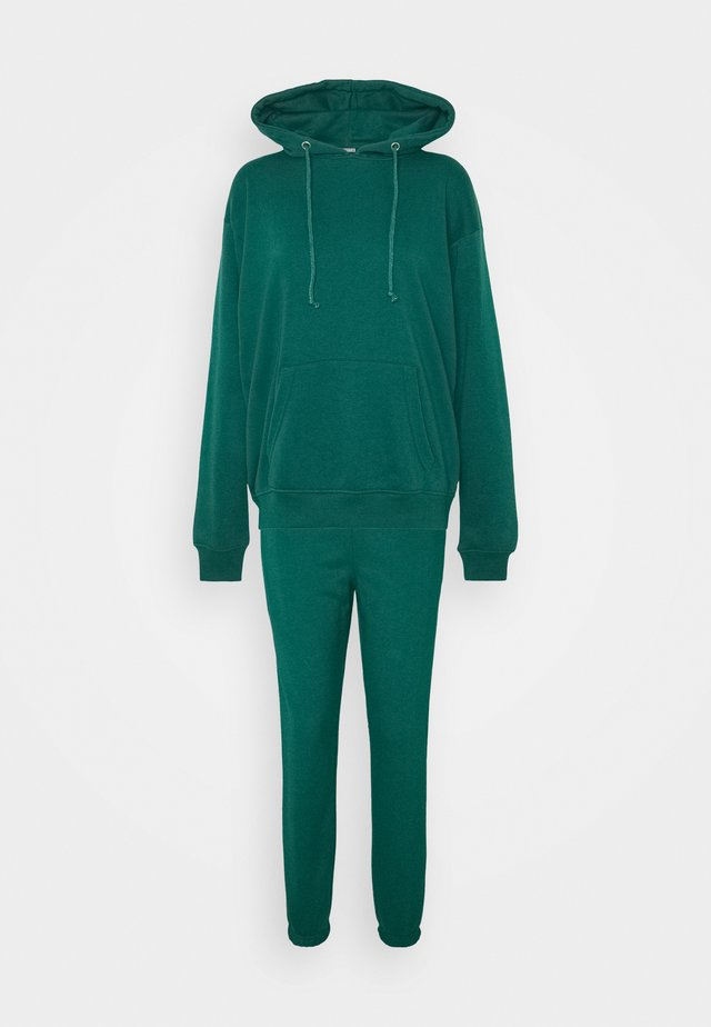 HOODIE SET - Bluza z kapturem - green