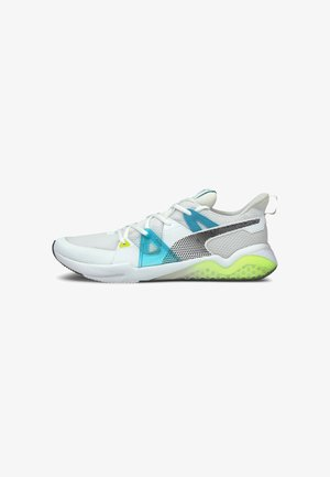 CELL FRACTION FADE  - Neutral running shoes - white-scuba blue-yellow