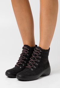 ECCO - SOFT WEDGE TRED - Ankle boot - black - 0