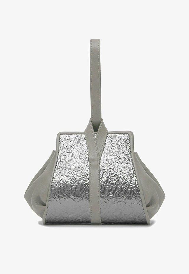 TANGO - Handbag - misty gray silver crash