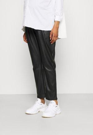 PANTS PAPERBAG VEGAN - Bukse - black