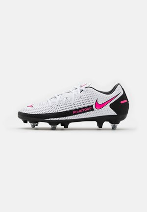 PHANTOM GT ACADEMY SG-PRO - Screw-in stud football boots - white/pink blast/black