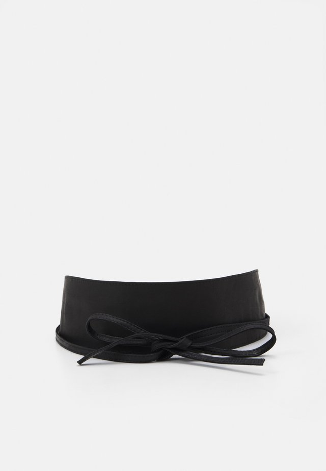 PCVIBS LEATHER TIE WAIST BELT - Pásek - black