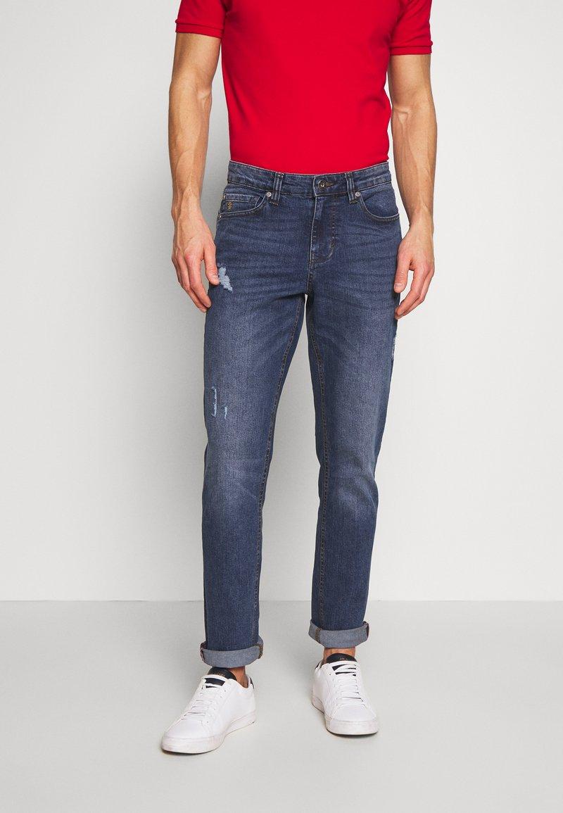 IZOD - SLIM - Straight leg jeans - stone blue denim