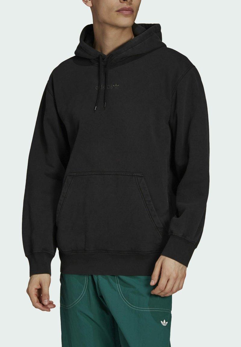 adidas Originals - DYED HOODY ORIGINALS SWEATSHIRT HOODIE - Sweat à capuche - black
