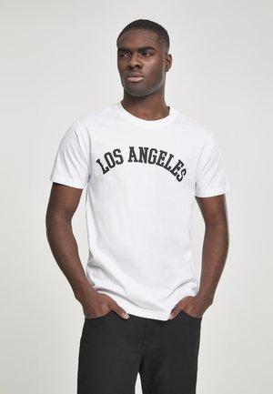 LOS ANGELES - Triko spotiskem - white