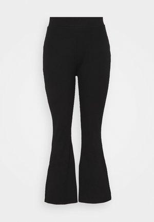 HIGH WAIST FLARE LEGGINGS - Bukse - black
