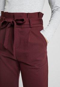 Vero Moda - VMEVA LOOSE PAPERBAG PANT - Trousers - port royale - 3