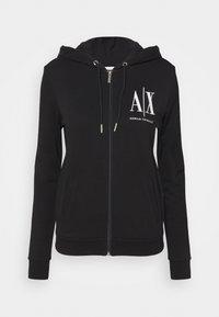 Armani Exchange - FELPA - Zip-up hoodie - black - 0