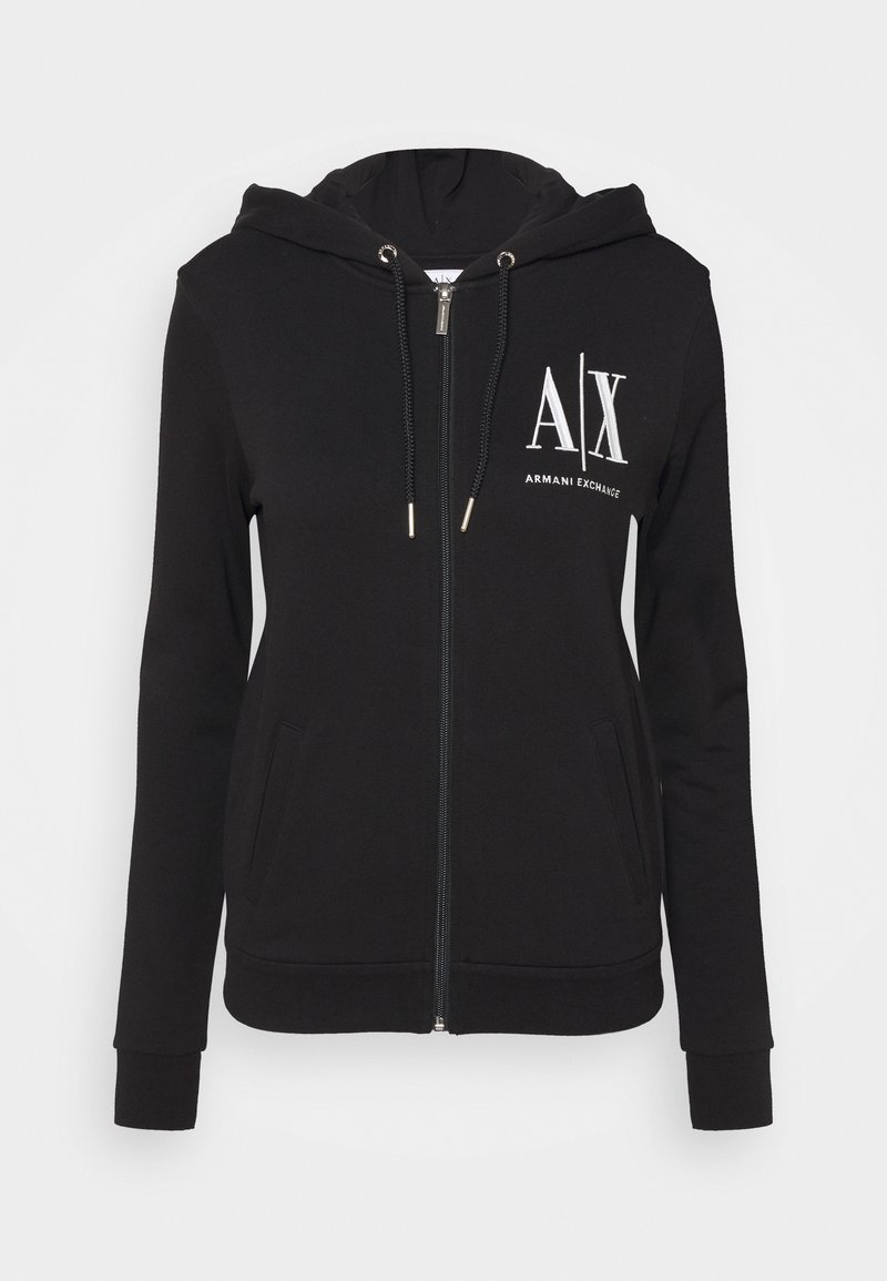 Armani Exchange - FELPA - Zip-up hoodie - black