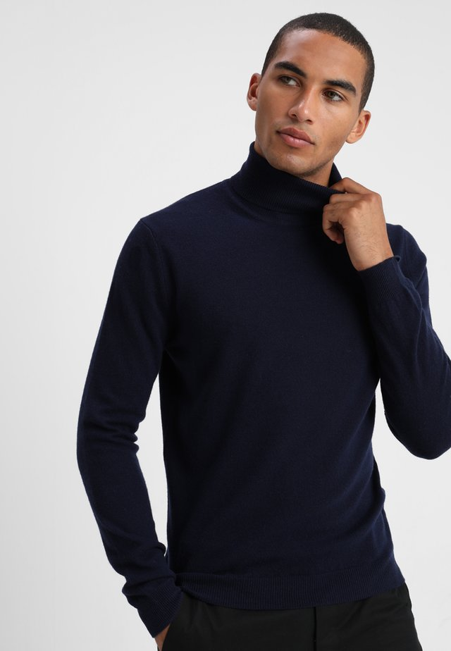 BASIC ROLL NECK - Sweter - navy