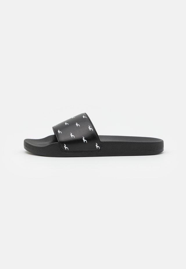 LOGO SLIDE - Pantofle - black