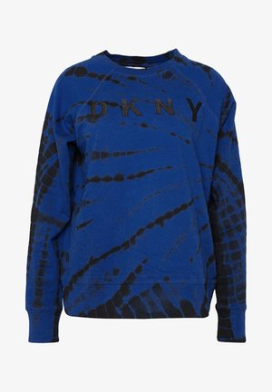 TIE DYE LONG SLEEVE LOGO - Sweatshirts - lapis