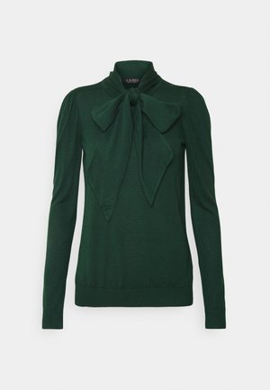 TIE NECK - Jumper - deep pine