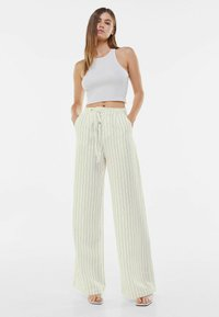 Bershka - Trousers - off-white - 1