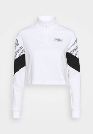 REBEL ZIP CREW - Sweatshirt - white