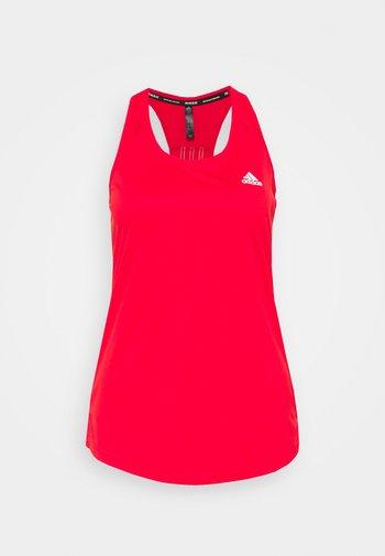 T-shirt sportiva - vivid red/white