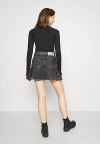 Diesel - DE BETHY SKIRT - Denim skirt - washed black - 2