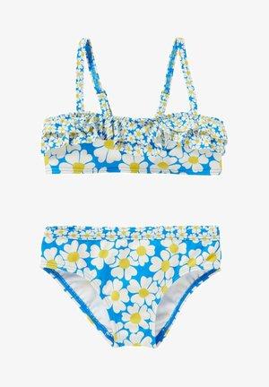 SET - Bikini - marokkoblau gänseblümchenmuster