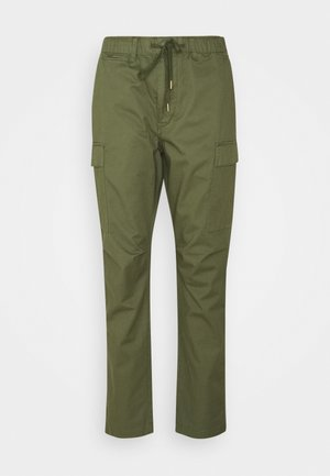 STRETCH SLIM FIT TWILL CARGO PANT - Cargo trousers - army olive