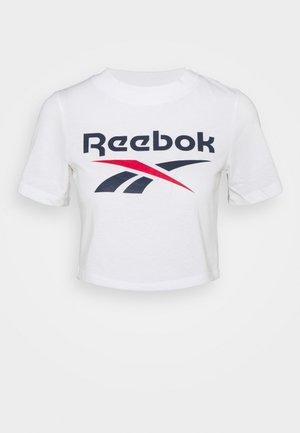 CROP TEE - T-shirt imprimé - white
