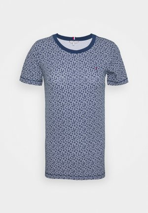 ESSENTIAL ROUND - T-shirts print - linear cube/blue ink