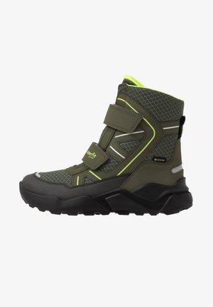 ROCKET - Snowboot/Winterstiefel - grün/gelb