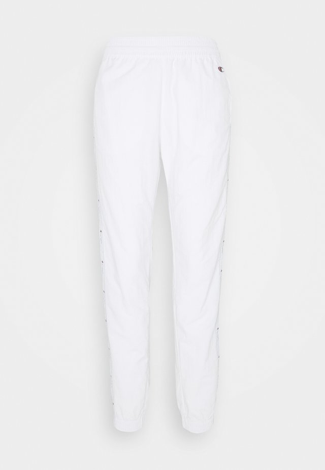 ELASTIC CUFF PANTS ROCHESTER - Tracksuit bottoms - white/blue