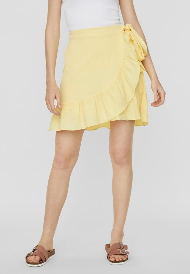ROCK WICKEL - A-line skirt - pale banana