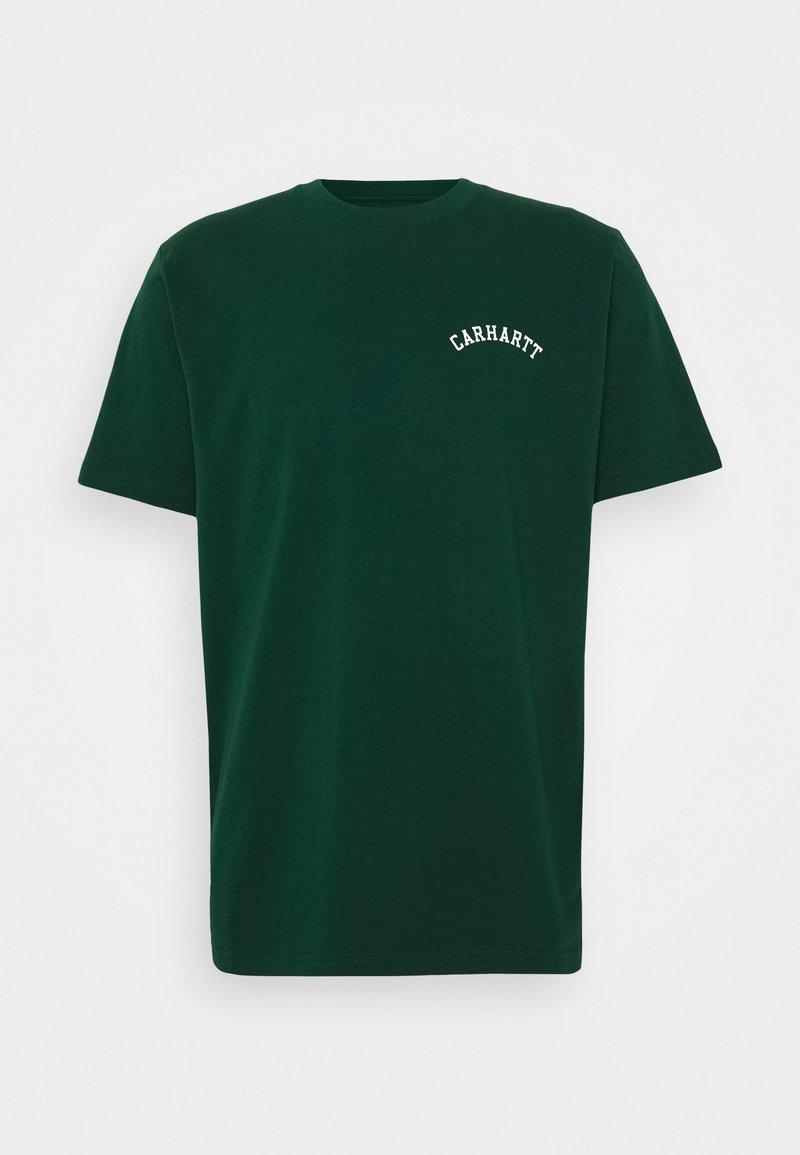 Carhartt WIP - UNIVERSITY SCRIPT  - Basic T-shirt - bottle green / white