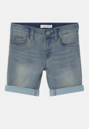 NKMTHEO - Denim shorts - light blue denim