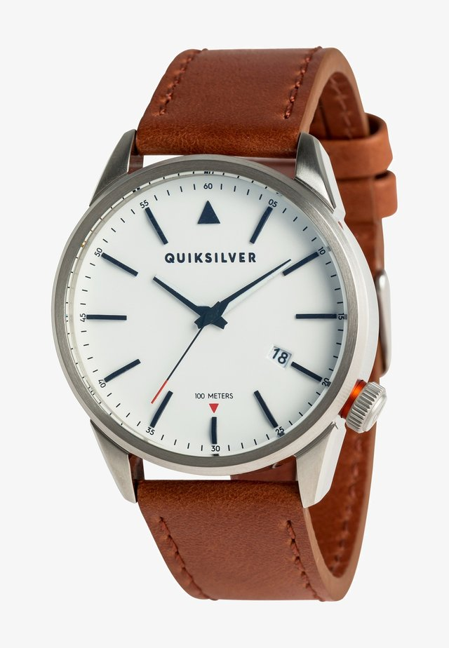 THE TIMEBOX  - Watch - silver/ white/ brown