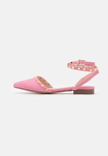 WIDE FIT LAURENA - Slingback ballet pumps - pink