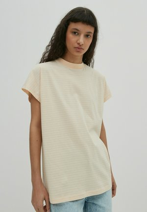 Print T-shirt - apricot