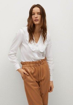 GRETA - Button-down blouse - cremeweiß