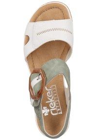 Rieker - Platform sandals - white - 3