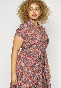 Lauren Ralph Lauren Woman - AMIT SHORT SLEEVE CASUAL DRESS - Day dress - red/multi - 4