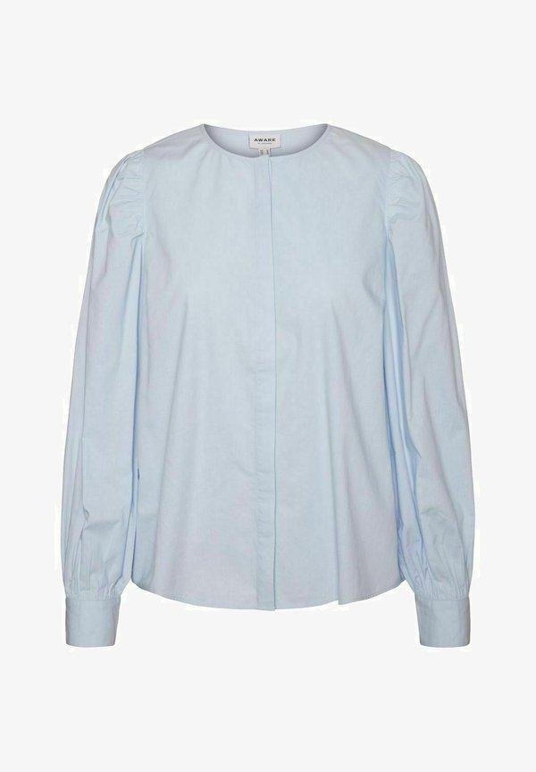 Vero Moda Bluzka - cashmere blue/jasnoniebieski GVNG