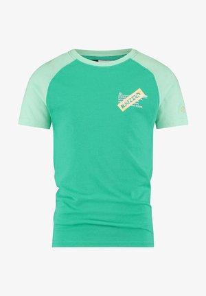 Print T-shirt - pastel wood