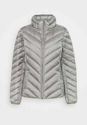 SHORT PACKABLE PUFFER - Bunda z prachového peří - concrete