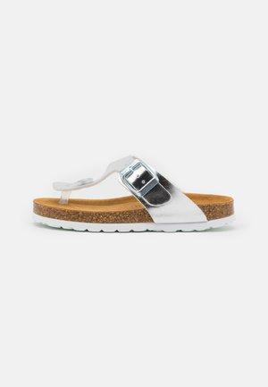 OTTIE - T-bar sandals - silver metallic