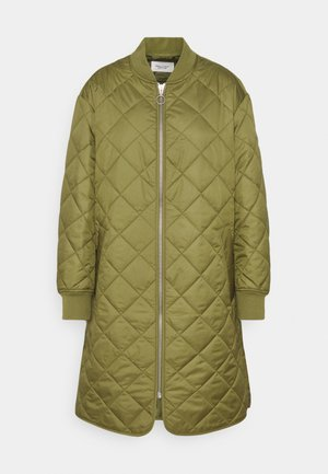 QUILTED COAT - Halflange jas - fresh herbs