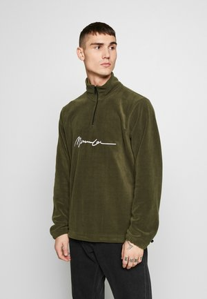 POLAR ZIP NECK - Forro polar - khaki