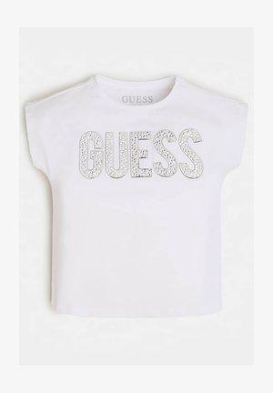 NIETEN - T-shirt imprimé - weiß