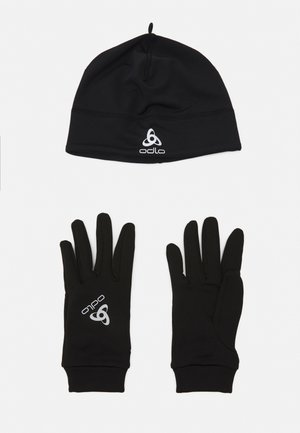 GLOVE HAT UNISEX SET - Mütze - black