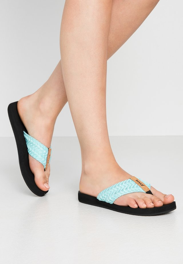 CUSHION THREADS - T-bar sandals - aqua