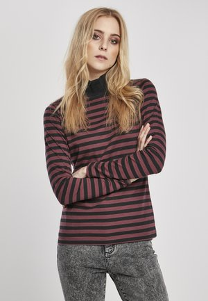 Long sleeved top - cherry/blk