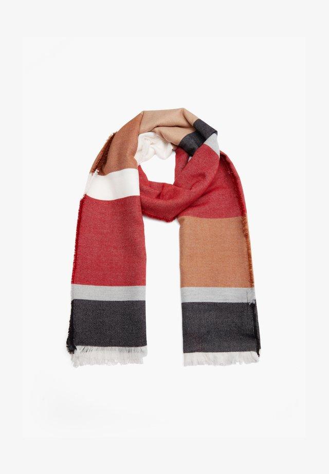 Scarf - dark red stripes