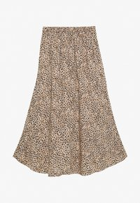 Abercrombie & Fitch - RUFFLE WRAP MIDI  - A-line skirt - light brown - 1