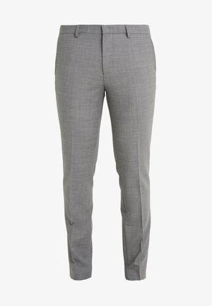 HESTEN - Suit trousers - open grey